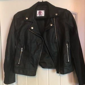 Girl's Justice Faux Leather Jacket-Size 14/16
